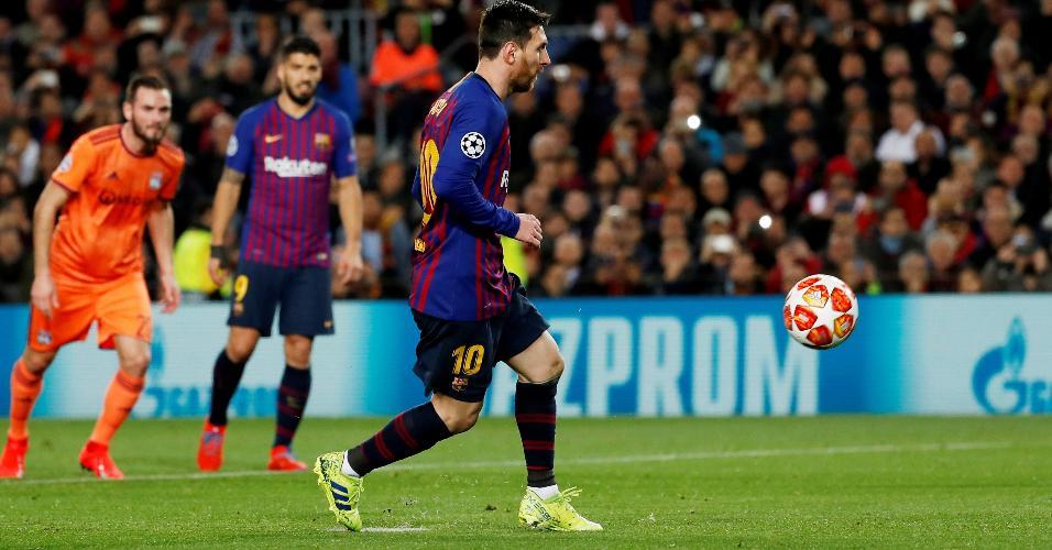 Barcelona Messi cavadinha Liga dos Campeões