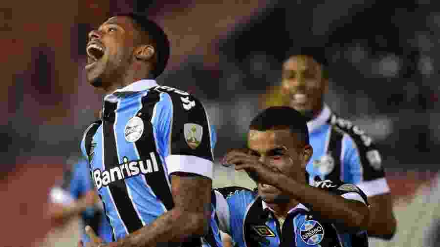 André foi um dos jogadores do Grêmio que provocou o Internacional após o vice da Copa do Brasil - NORBERTO DUARTE / AFP