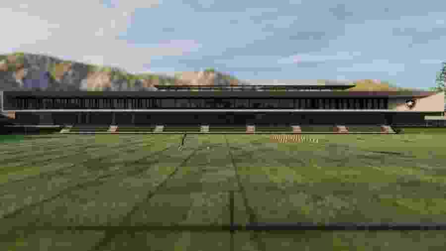 Projeção do novo CT do Botafogo - Reprodução/Facebook/Sergio Conde Caldas Arquitetura