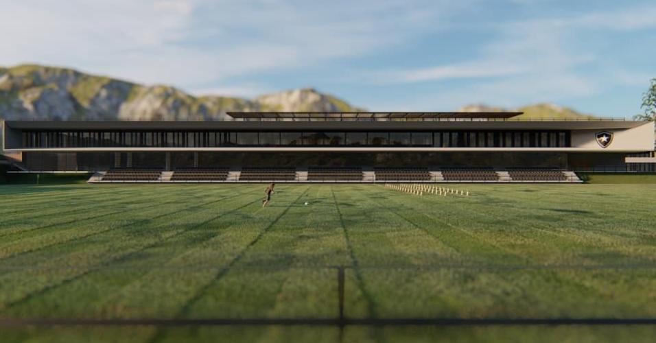 Projeção do novo CT do Botafogo
