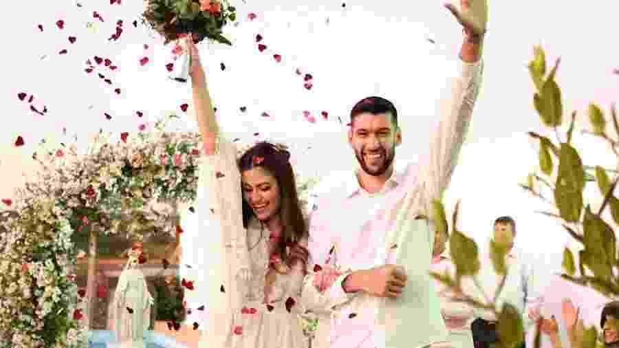 Flávio Gualberto e Bruna Gomides casam durante pandemia - Arquivo Pessoal/Miss Mendonça Fotografia
