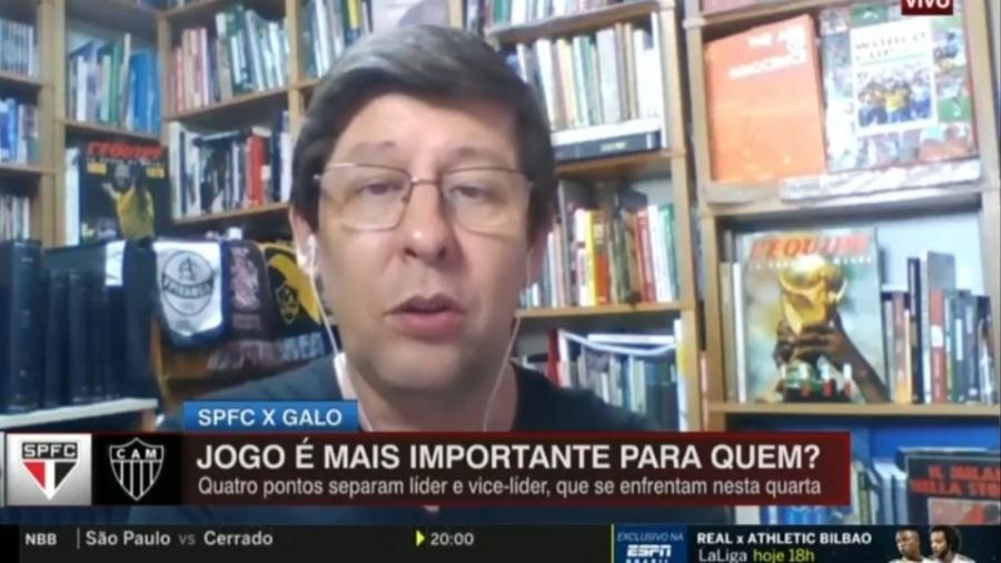 """Celso Unzelte diz que São Paulo tem """"importância moral"""" contra o Galo - Reprodução/ESPN"""