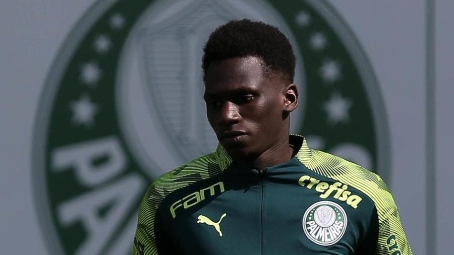 Jean Quiñones, no Palmeiras - Cesar Greco/Agência Palmeiras