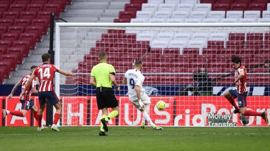 Benzema empata no fim e evita derrota do Real para o Atlético de Madri -  Denis Doyle/Getty Images