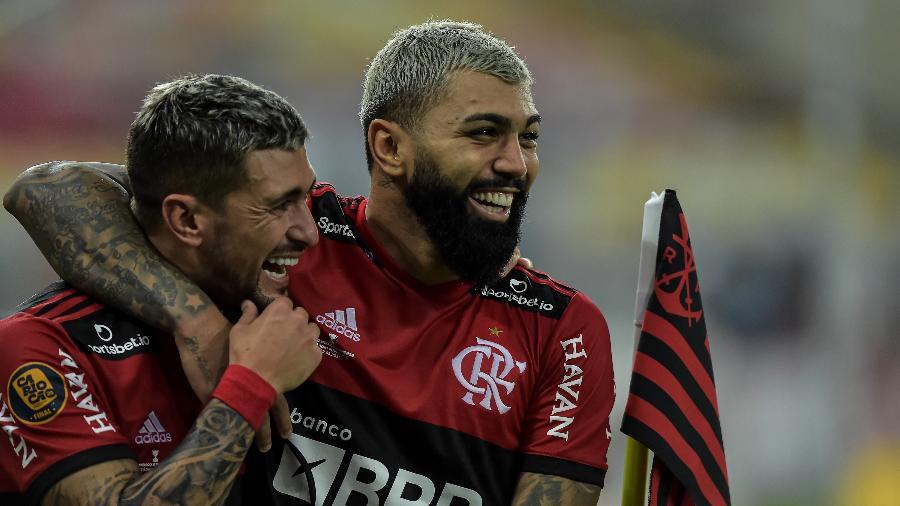 Arrascaeta e Gabigol desfalcarão o Flamengo durante a Copa América - Thiago Ribeiro/AGIF
