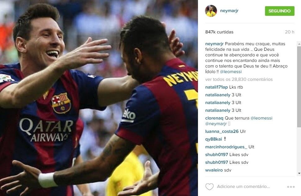 Neymar só abriu espaço em sua
