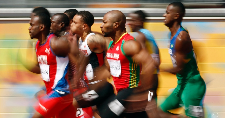 Depois de tropeçar na largada, brasileiro Vitor dos Santos fica para trás e não se classifica nos 100m