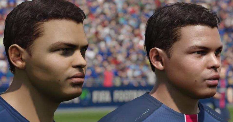 Reprodução de Thiago Silva evoluiu bastante entre as versões 15 e 16 do Fifa