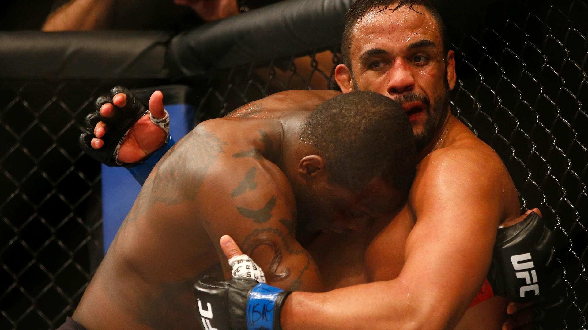Rafael 'Feijao' Cavalcante acabou derrotado por Ovince Saint Preux no UFC: Hendricks x Thompson