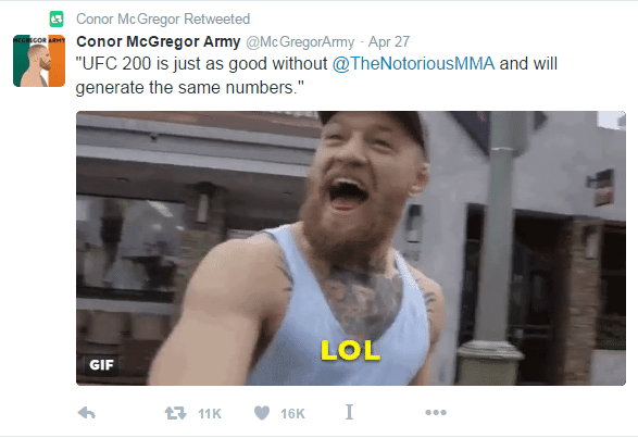 Fora do show, McGregor ironiza Jones e Cormier no UFC 200 com meme