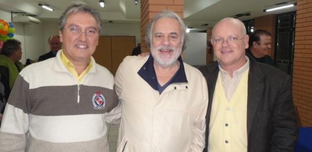 Luiz Carlos Silveira Martins (centro) está internado em hospital de Porto Alegre