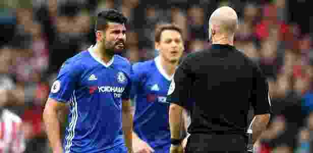 O italiano elogiou a mudança no temperamento de Diego Costa, amarelado neste sábado - Laurence Griffiths/Getty Images