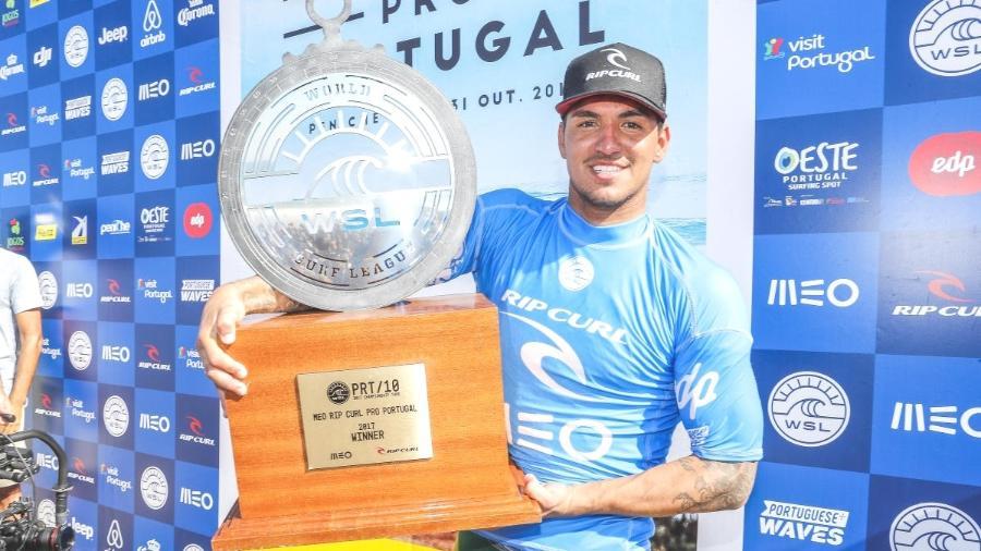 Medina com o título da etapa de Portugal da WSL -  DAMIEN POULLENOT/WSL/Divulgação