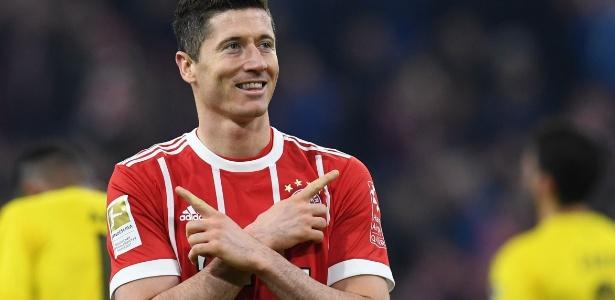 Lewandowski ficou insatisfeito com a diretoria do Bayern de Munique - AFP PHOTO / Christof STACHE