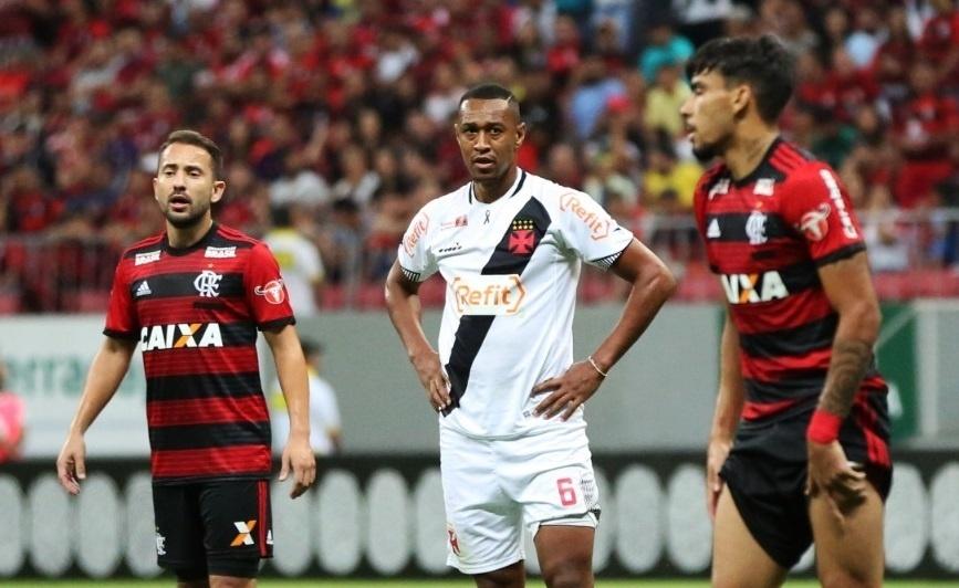 Fabrício, durante clássico entre Vasco e Flamengo