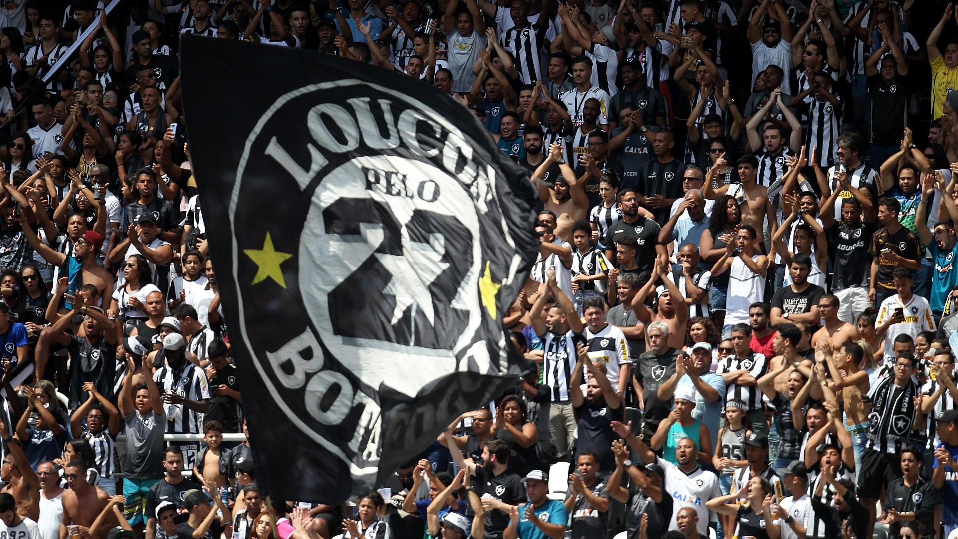 Torcedores do Botafogo foram em grande público ao Nilton Santos (Engenhão) contra o América-MG