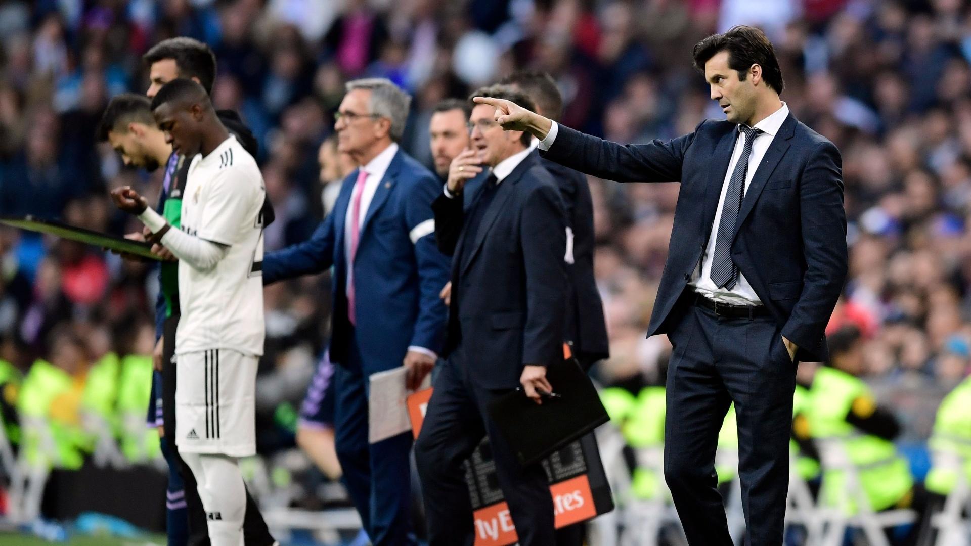 Vinicius Júnior entrou no segundo tempo do jogo entre Real Madrid e Valladolid