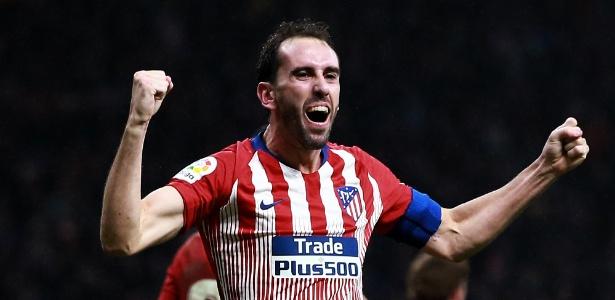 Desde 2010 no Atlético de Madri, Godín já atuou por 372 vezes e marcou 26 gols  - Gonzalo Arroyo Moreno/Getty Images