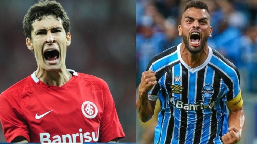 Rodrigo Dourado e Maicon, capitães de Internacional e Grêmio, se enfrentarão - Montagem com fotos de Ricardo Duarte/SC Inter e Lucas Uebel/Grêmio