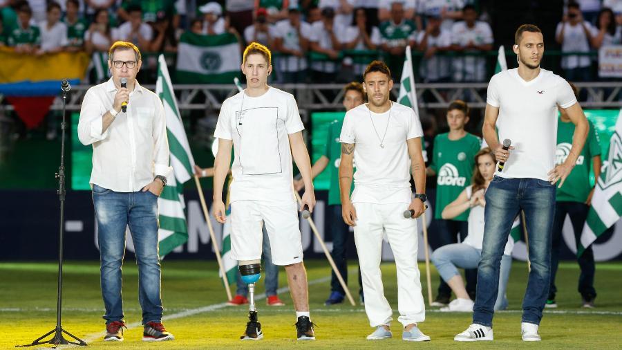 Henzel, Follmann, Ruschel e Neto são quatro dos seis sobreviventes da tragédia da Chape - Marcello Zambrana/AGIF