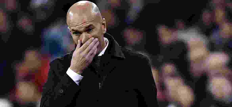 Zidane, técnico do Real Madrid, em partida contra o Huesca - Javier Soriano/AFP