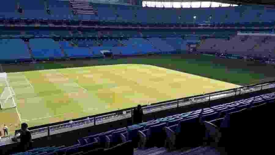 Foto mostra gramado da Arena um dia depois de Qatar x Argentina, pela fase de grupos - Reprodução