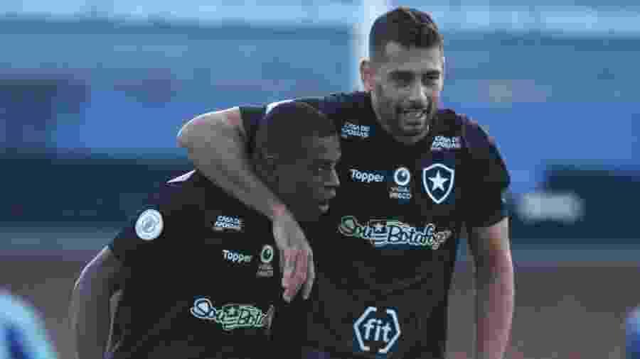 Botafogo venceu Avaí no primeiro turno com gols de Alex Santana e Marcelo Benevenuto - Guilherme Hahn/AGIF