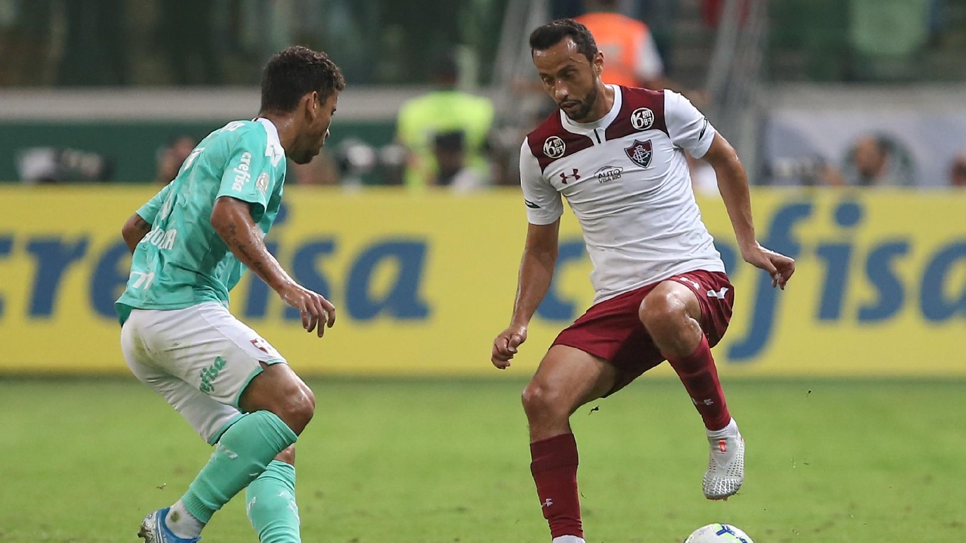 Nenê, durante partida entre Palmeiras e Fluminense