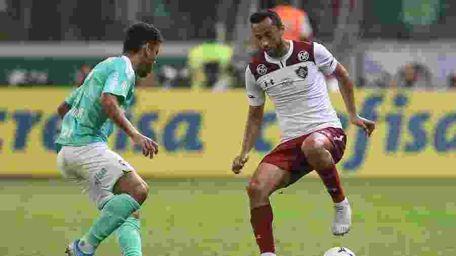 Nenê, durante partida entre Palmeiras e Fluminense - Marcello Zambrana/AGIF