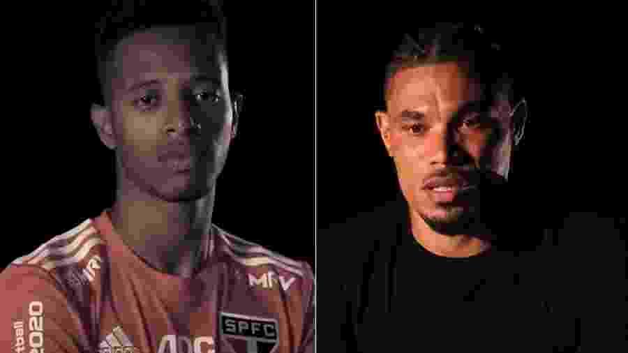 Tchê Tchê, do São Paulo, e Júnior Urso, do Corinthians, foram algumas personalidades que apareceram em vídeos de clubes - Reprodução/Twitter