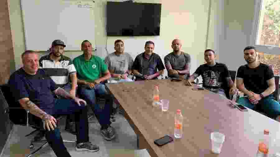 Líderes da organizada do Palmeiras se encontraram com Luxa, Felipe Melo, Dudu e Bruno Henrique - Reprodução