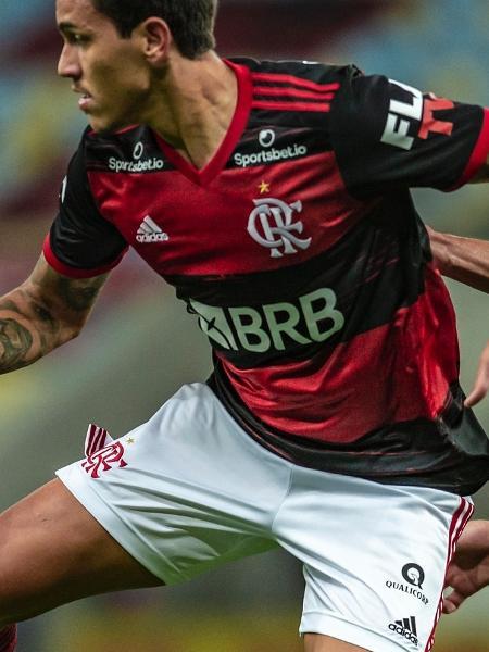 Pedro (e), do Flamengo, em disputa na final do Campeonato Carioca 2020 - Marcelo Cortes / Flamengo