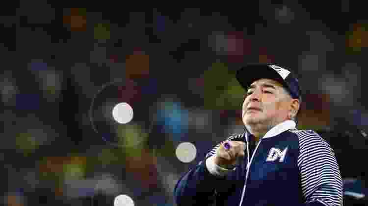 Diego Maradona, técnico do Gimnasia y Esgrima La Plata - Marcos Brindicci/Getty Images - Marcos Brindicci/Getty Images