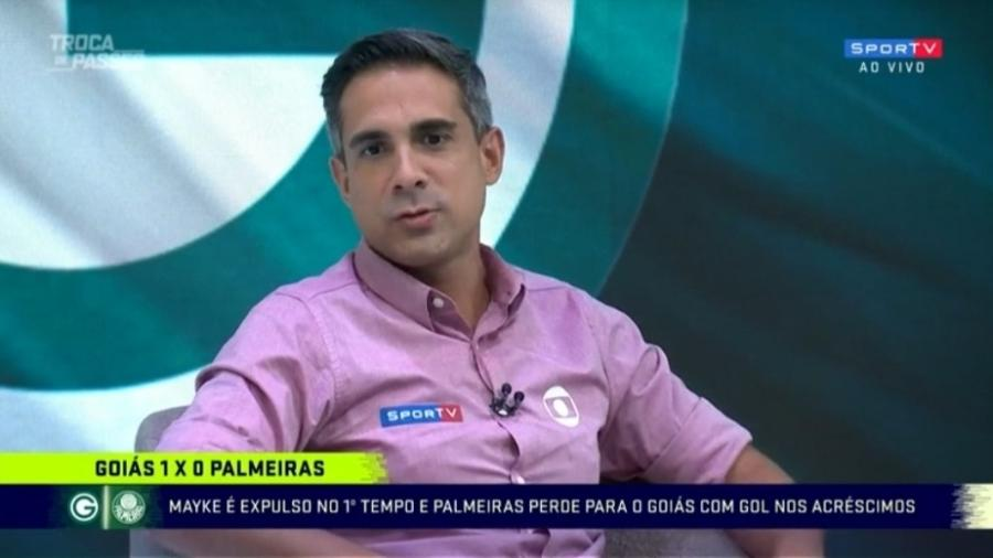 Gustavo Villani desabafa após derrota do Palmeiras para o Goiás - Reprodução/SporTV