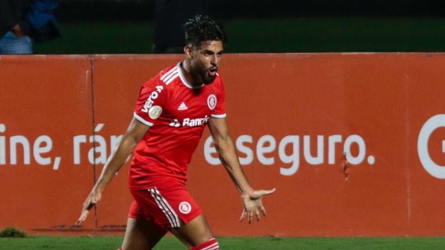 Yuri Alberto comemora gol do Internacional contra o São Paulo no Morumbi - Marcello Zambrana/AGIF