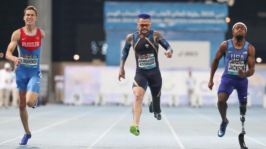 Campeonato Mundial de Atletismo em Dubai, Emirados Árabes - 100m T63 - Vinicius Rodrigues. - Daniel Zappe/Exemplus/CPB