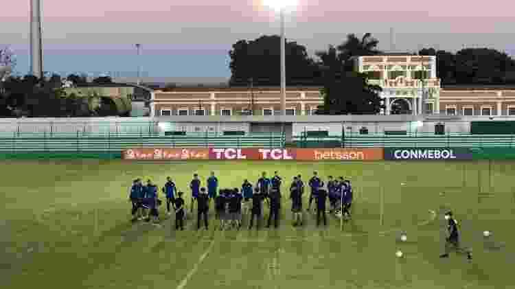 Seleção do Chile treinou ontem (17) no estádio Dutrinha, em Cuiabá, antes do duelo contra a Bolívia - Bruno Braz / UOL Esporte - Bruno Braz / UOL Esporte