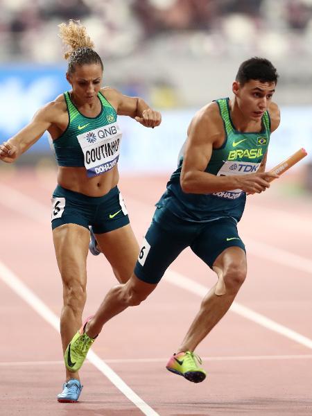 Alexander Russo disputou o 4x400 misto no Mundial de Doha, em 2019 - Alexander Hassenstein/Getty Images for IAAF