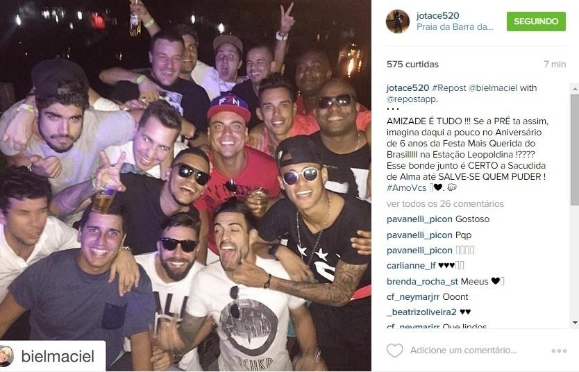 Neymar participa de festa no Rio de Janeiro em dia de folga do Barcelona