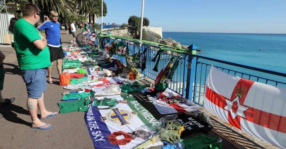 Irlandeses prestam homenagem a torcedor morto durante a Eurocopa