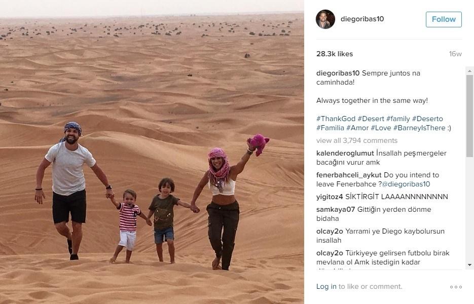 Diego compartilha nas redes sociais os momentos de lazer com a mulher Bruna Leticia e os filhos Davi e Matteo
