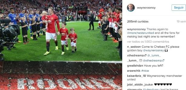 Wayne Rooney é visto frequentemente em campo com os filhos