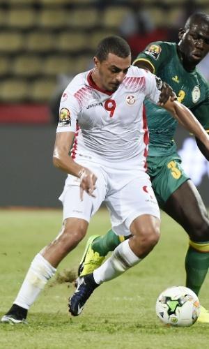 Ahmed Akaichi, da seleção da Tunísia, na Copa Africana de Nações 2017