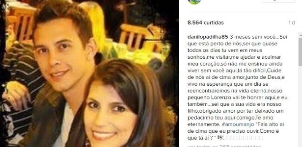 Mulher de Danilo deixa mensagem em homenagem ao jogador
