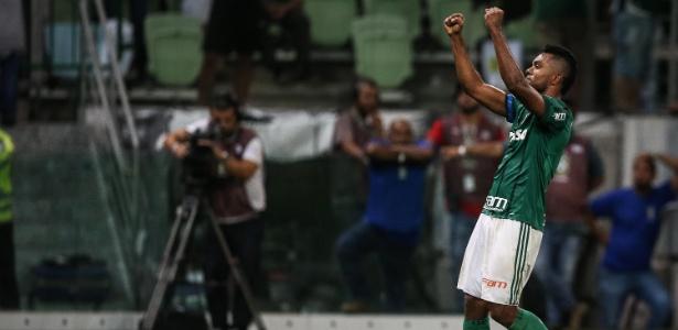 Borja comemora gol do Palmeiras sobre o Vasco