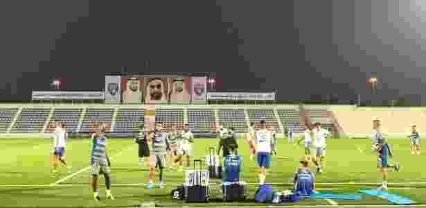Jogadores do Grêmio trabalham no CT do Al Ain, primeiro treino para Mundial - Divulgação/Grêmio - Divulgação/Grêmio