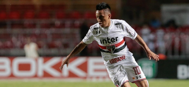 Cueva tem três gols e uma assistência pelo São Paulo nesta temporada - Marcello Zambrana/AGIF