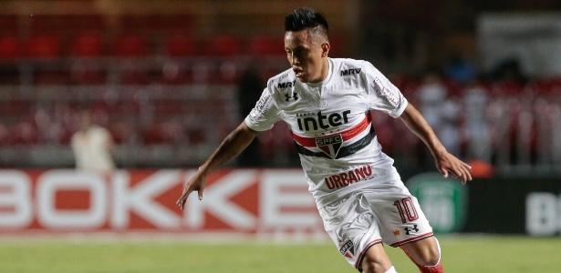 Cueva tem dois gols em cinco jogos nesta temporada pelo São Paulo - Marcello Zambrana/AGIF