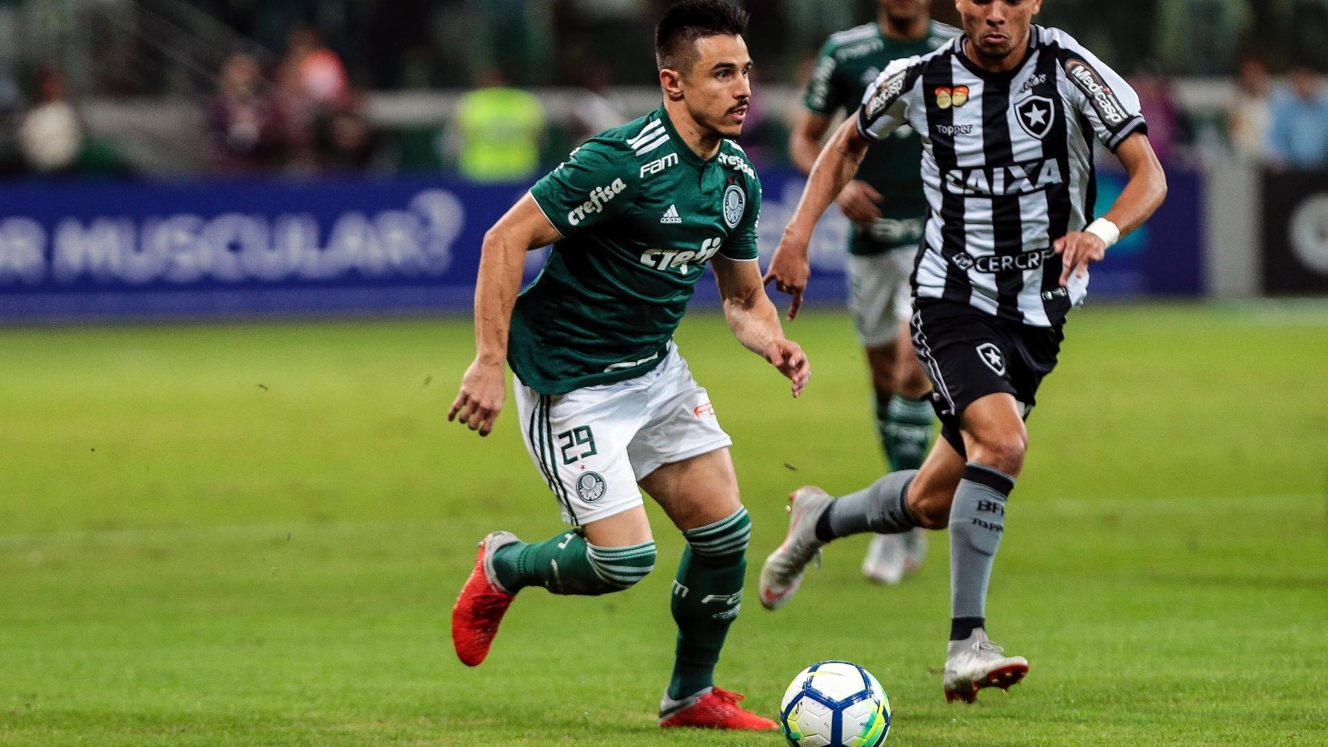 O atacante Willian em lance da partida entre Palmeiras e Botafogo