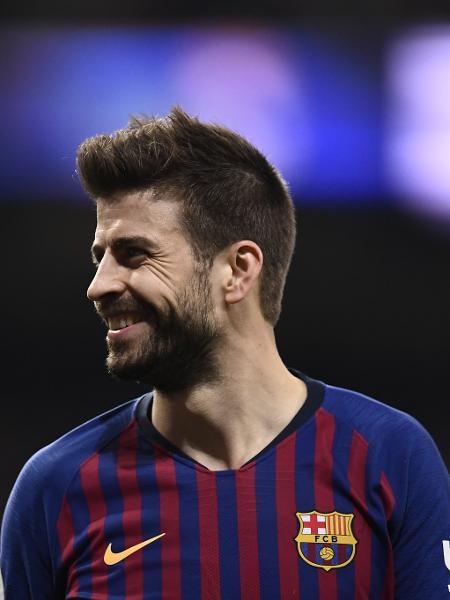 Piqué, durante vitória do Barcelona sobre o Real Madrid, pela Copa do Rei - Oscar Del Pozo/AFP